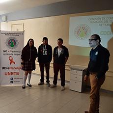 Difusión y Divulgación de los Derechos Humanos, dirigido a los alumnos de la Escuela Secundaria Técnica #65 Ing. Victor Bravo Aguja