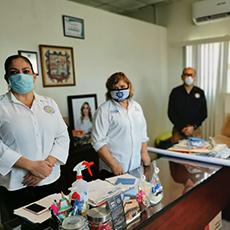 Realizó visita de trabajo con personal de la Secretaria de Seguridad Pública Municipal .