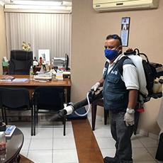 Sanitización en las oficinas a cargo de la Comisión Estatal de Protección Contra Riesgos Sanitarios (COEPRIS)