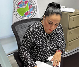 La Presidenta de la CODHET y Vicepresidenta  de  la  Comisión de Gobierno  del Mecanismo Independiente de Monitoreo Nacional ( MIMN), Lic. Olivia Lemus, participó en sesión ordinaria.