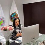 Lic. Olivia Lemus, Vicepresidenta de la Zona Norte de la FMOPDH en el marco de la LII Asamblea Genera