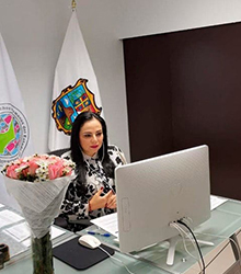 Lic. Olivia Lemus, Vicepresidenta de la Zona Norte de la FMOPDH en el marco de la LII Asamblea General