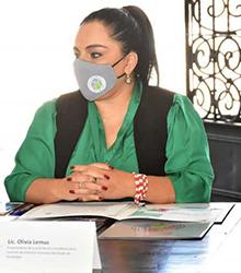 Convenio de colaboración suscrito por la Lic. Olivia Lemus y el Dr. Alfonso Hernández Barrón, como Ombudsperson de Tamaulipas y Jalisco