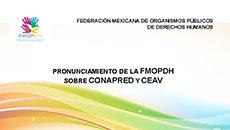 imagen Pronunciamiento de la FMOPDH sobre la CONAPRED y CEAV