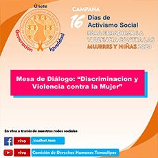 Mesa de Diálogo Discriminación y Violencia Contra la Mujer