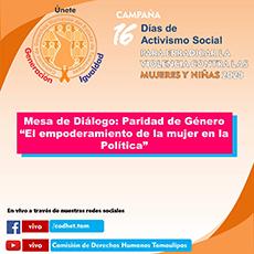 Mesa de Diálogo: El Empoderamiento de la mujer en la política