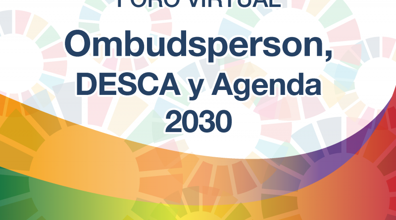 Foro virtual Ombudsman, Desca y Agenda 2030