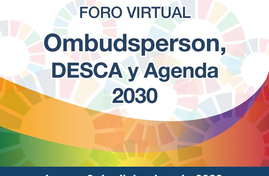 Foro Virtual Ombudsperson, DESCA y Agenda 2030