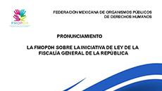 imagen PRONUNCIAMIENTO DE LA FMOPDH SOBRE LA INICIATIVA DE LEY DE LA FISCALÍA GENERAL DE LA REPÚBLICA