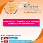imagen Conferencia Tema Violencia en el Noviazgo y Embarazo de Adolescentes