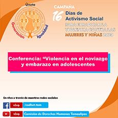 Conferencia Tema Vilencia en el Novazgo y Embarazo de Adolescentes