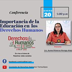 """Conferencia """"Importancia de la Educación en los Derechos Humanos"""""""