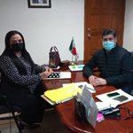 La Lic. Olivia Lemus, Presidenta de este Organismo llevó a cabo una reunión de trabajo con el Secretario del Ayuntamiento de Reynosa Lic. José Luis Márquez Sánchez
