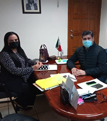 Presidenta de este Organismo llevo a cabo reunión de trabajo con el Secretario del Ayuntamiento de Reynosa