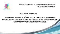 imagen Pronunciamiento FMOPDH respecto a la ratificación de tratados internacionales en materia de derechos humanos