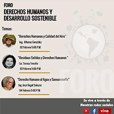"""Conferencia """"Derecho Humano al Agua y Saneamiento"""""""