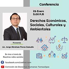 """Conferencia """"Derechos Económicos, Sociales, Culturales y Ambientales"""""""