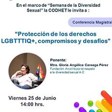 Conferencia Magistral: Protección de los derechos LGBTTTIQ+, compromisos y desafíos