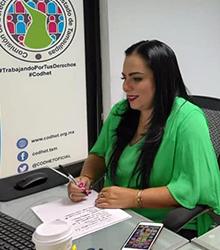 La Licenciada Olivia Lemus, Presidenta de la CODHET, estuvo presente de manera virtual en la Primer Reunión de Diálogo convocada por la FMOPDH