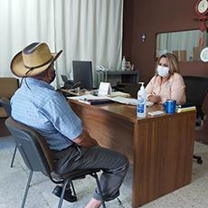 Acudió a nuestra oficina de la Delegación Regional de El Mante, una persona adulta mayor a solicitar una asesoría