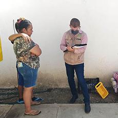 Personal de la Delegación Regional de El Mante realiza diligencia consistente en recabar informativa para la integración de quejas