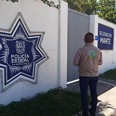 Personal de la Delegación Regional de El Mante llevo acabo notificación en la Delegación de Seguridad Pública