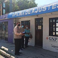 Personal de la Delegación Regional El Mante acompañó a una persona adulta mayor a oficinas de ajustador de Seguros