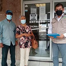 Personal de la Delegación Regional El Mante acompañó a personas adultas mayores a la oficina Fiscal de esta Ciudad