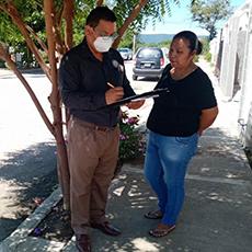 Personal de la Delegación Regional de El Mante acudió al fraccionamiento Miravalle de esta Ciudad