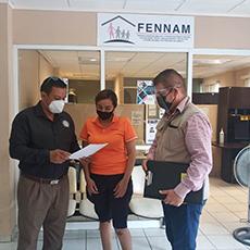 Personal de la Delegación Regional de El Mante acompañó a una ciudadana a la FENNAM, para que presentará su denuncia