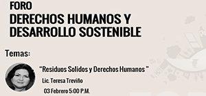 Conferencia Residuos Solidos y Derechos Humanos